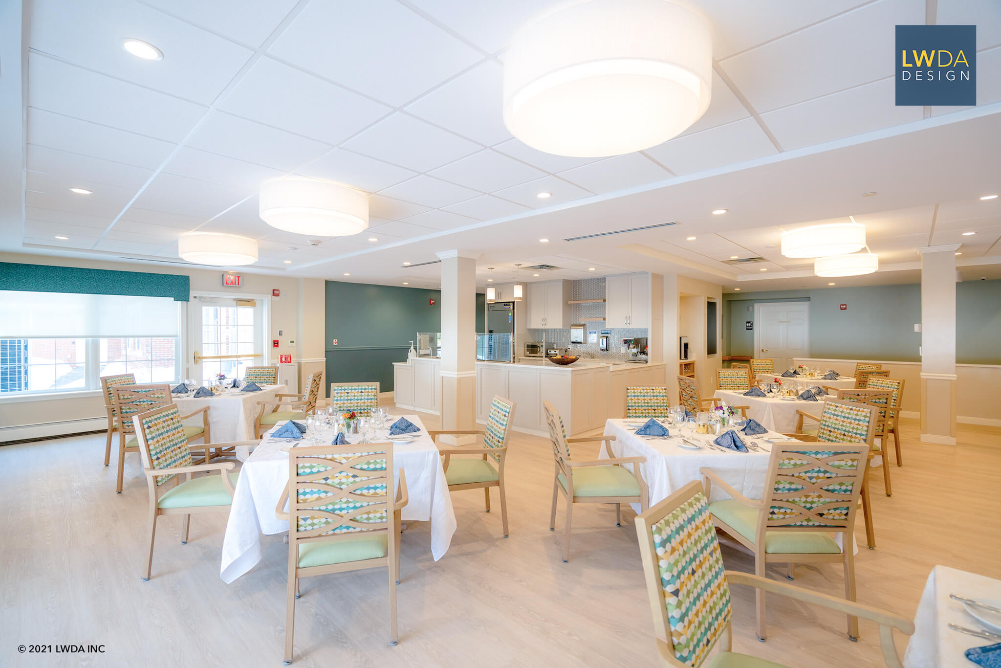 Dining Hall with Kitchen