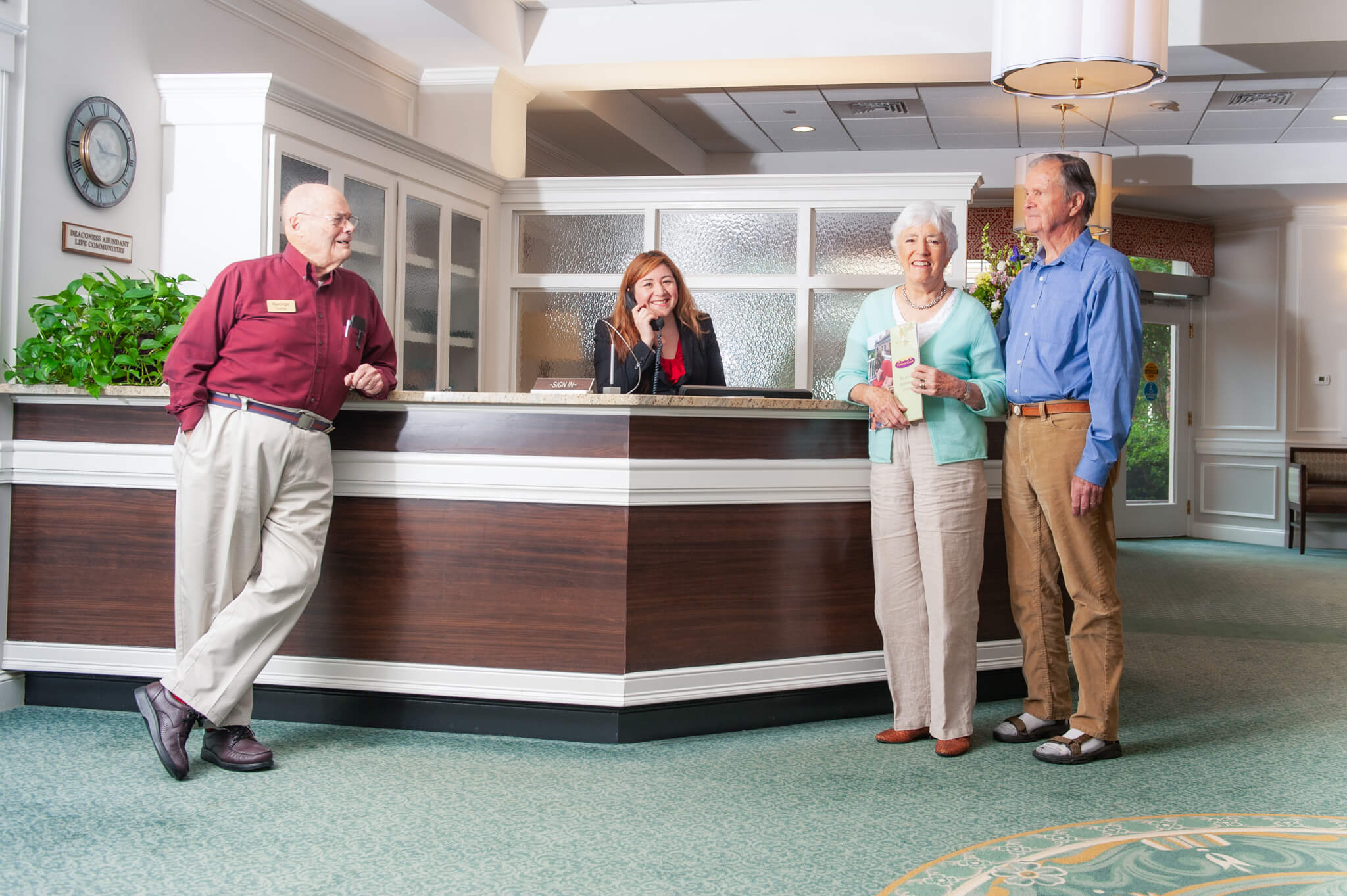 Concierge Desk with Residents