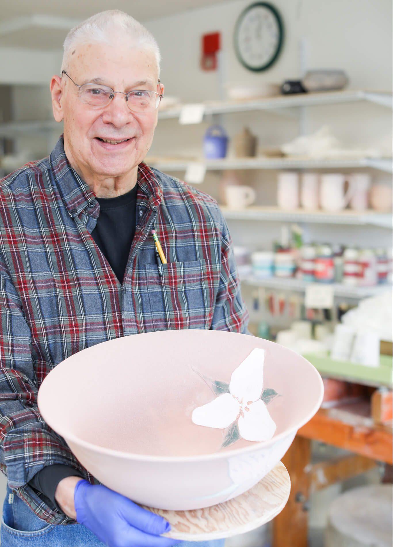Ted Carvalho With Ceramic Bowl