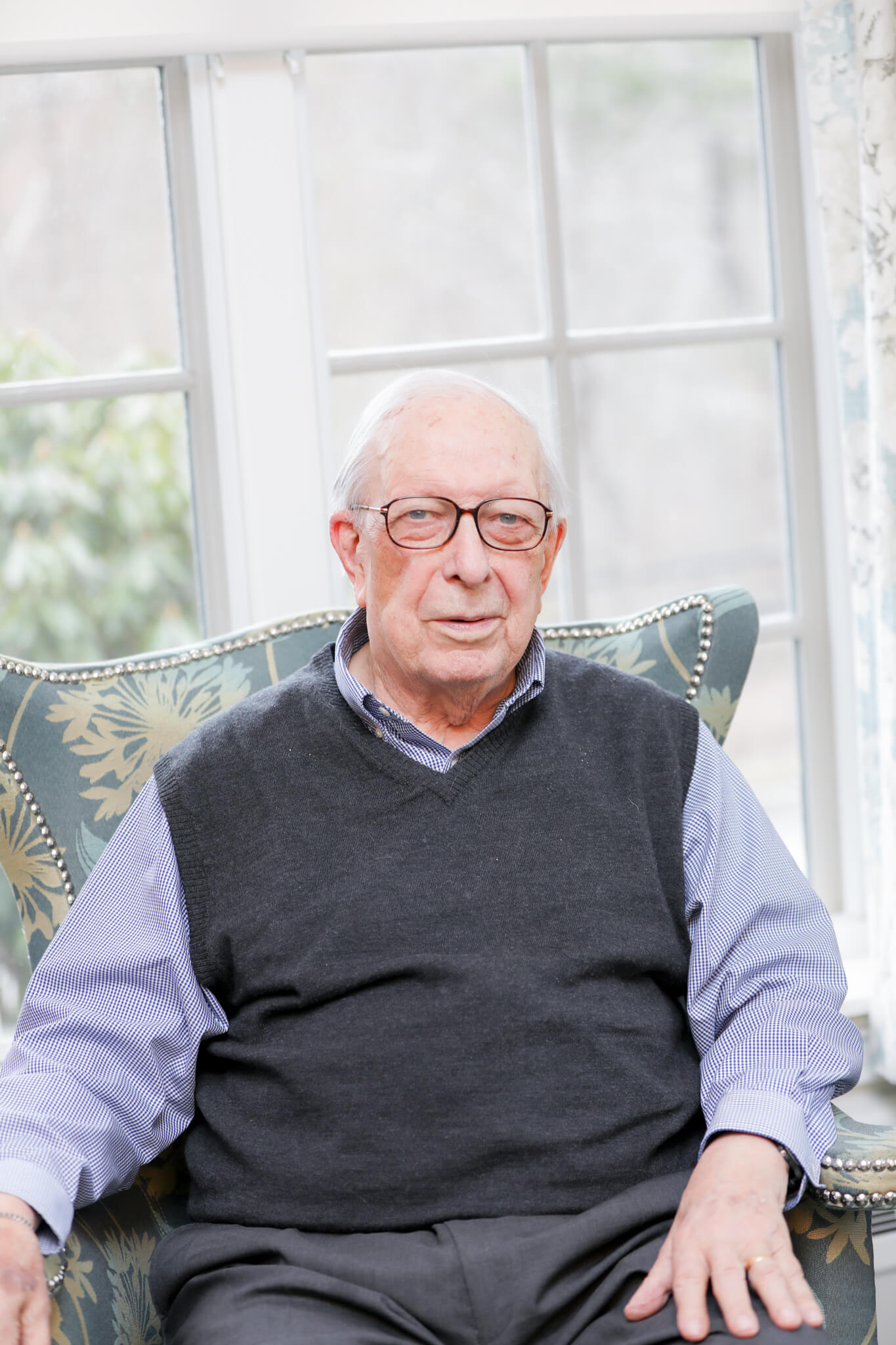 Peter Gunness Sitting in Chair