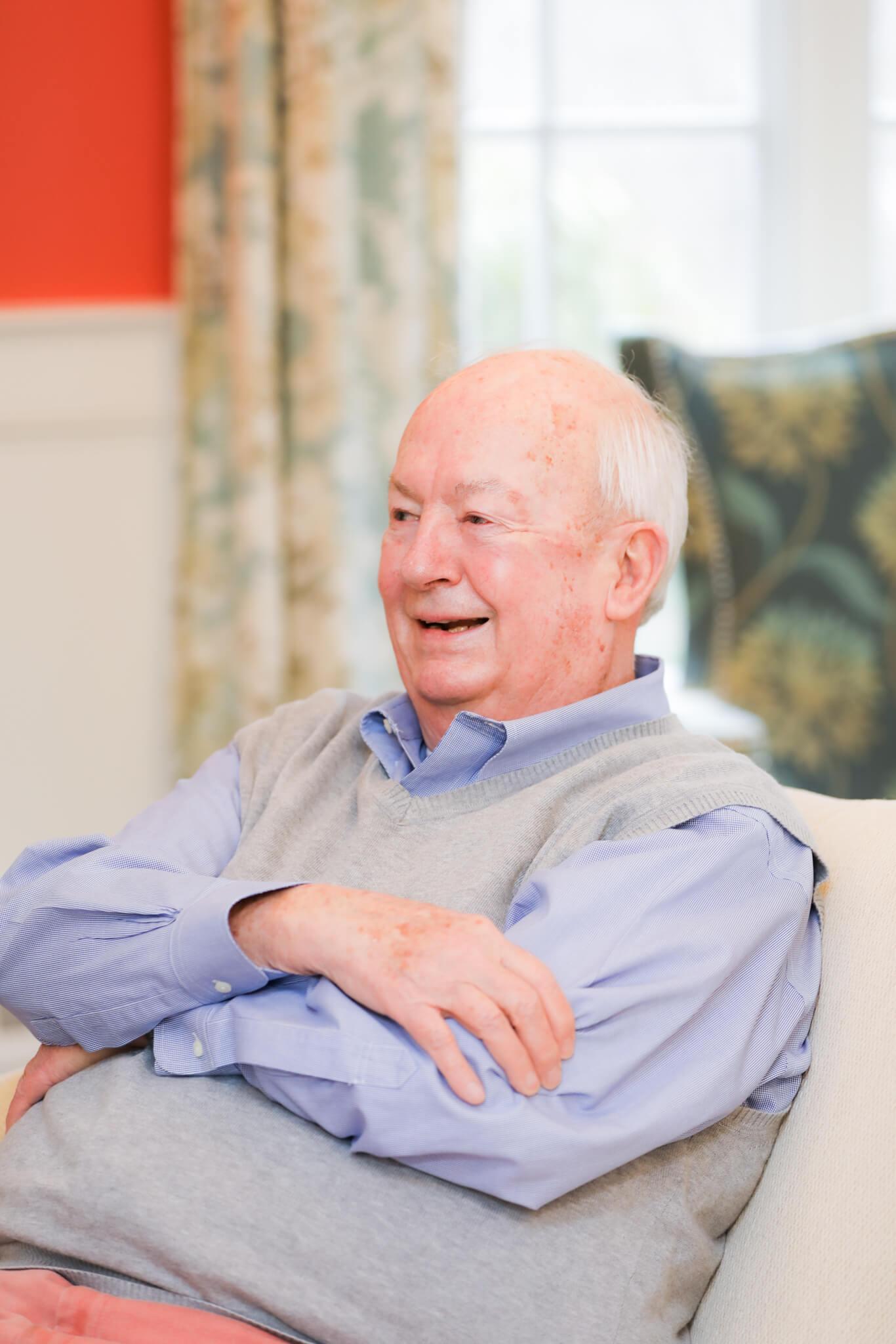 Bob Stroud Sitting in Chair