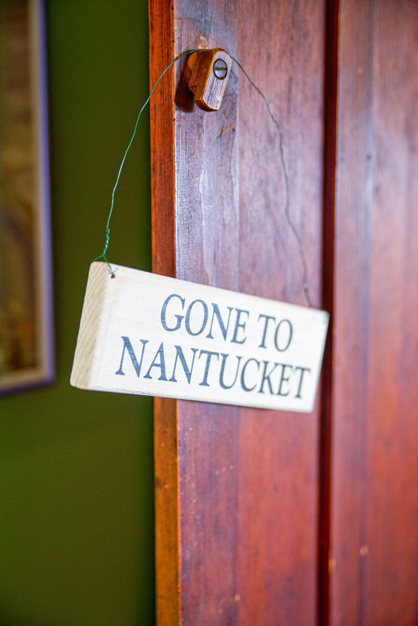 Gone to Nantucket Sign