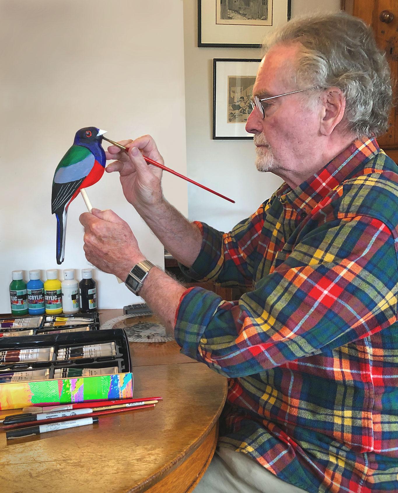 Mark Hopkins Painting Bird